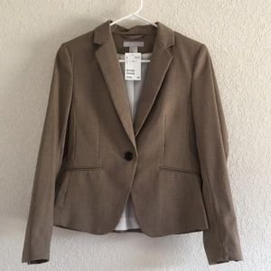 Fitted H&M beige patterned blazer